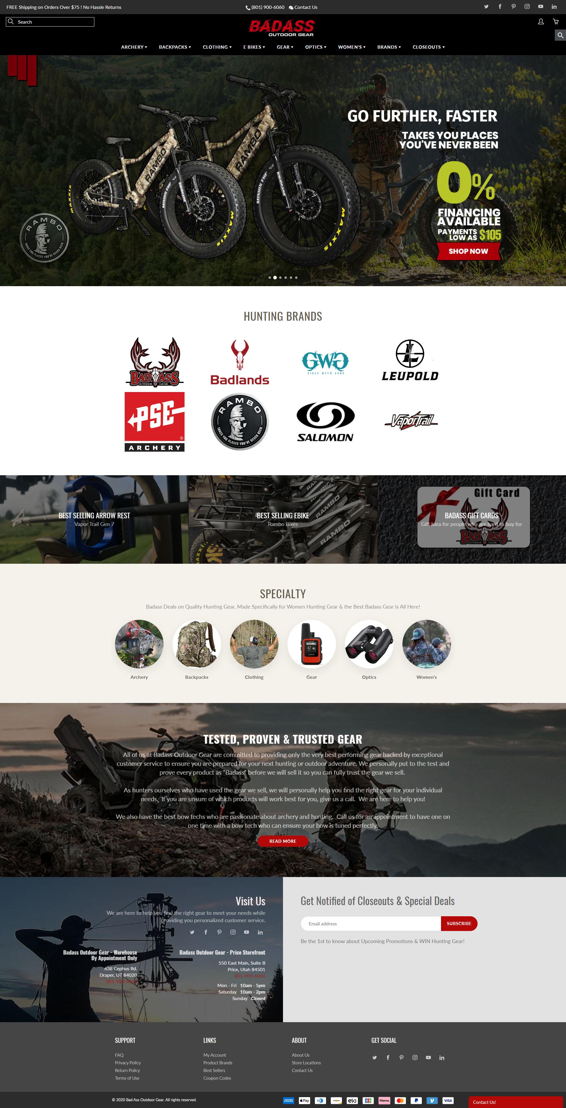 Outdoor Gear Homepage