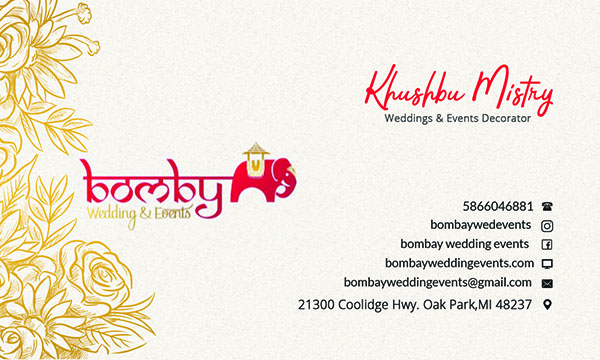 Bombay Weddings Business Card