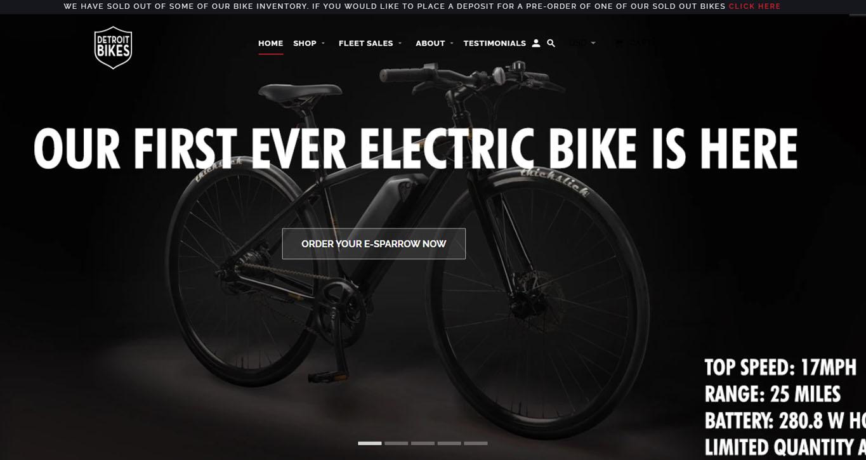 Detroit Bikes Website Preview