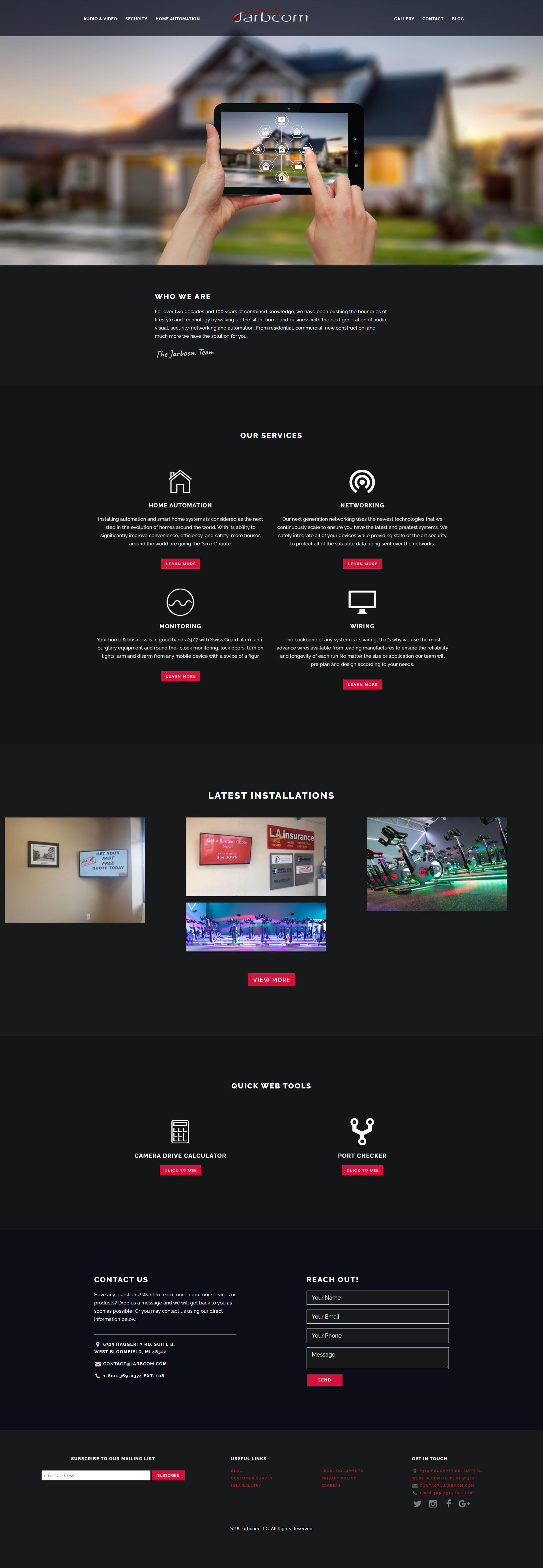 Jarbcom Homepage